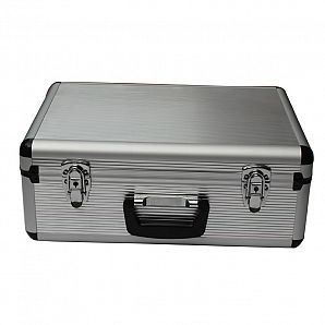 Aluminum Carrying Case with Stipe Panel